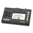"FZONE FMT-330 2.1"" LCD 3-in-1 Chromatic Electric Metro-Tuner for Guitar / Bass + More - Black"