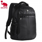 Oiwas 4076 Water Resistant Business Travel Nylon Notebook Laptop Backpack Bag - Black (31L)