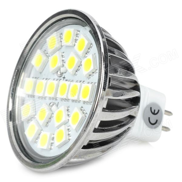 GU5.3 4W 300lm 6500K 20-5050 SMD LED White Light Spotlight (DC / AC 12V) r7s 15w 5050 smd led white light spotlight project lamp ac 85 265v