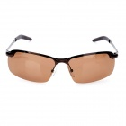 ReeDoon R3043 Magaluma Frame Resin Polarized Lens UV400 Protection Sunglasses - Tan + Bronze
