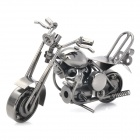 M36 Retro Iron Motorcycle Display Model Toy - Silver Grey