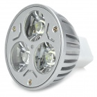High Power 3W 3-LED 210lm 6500K White Light Spotlight (12V)