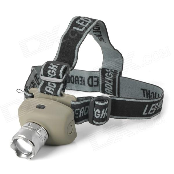 LED 80lm 3-Mode Zooming Flashlight - Earthy + Silver (3 x AAA)