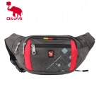 Oiwas 5328 Multifunction Casual Outdoor Waist Bag / Fanny Pack - Grey + Red