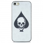 Skull Pattern Protective Frosted Back Case for Iphone 5 - White + Black