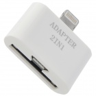 8Pin Lightning to 30Pin Female + Micro USB Female Adapter - White