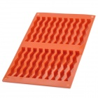 20-Wave Bars Flexible Silicone Chocolate Cake Soap Mold - Brownish Red