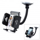 LSON Universal Car Windshield Mount Holder w/ Suction Cup for Mobile Phone - Black (4.5~11.5cm)