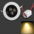 3W 3300K 180lm 3-LED Warm White Ceiling Lamp w/ LED Driver (85~265V)