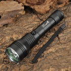 UltraFire LZZ-3 Cree XP-E R4 240lm 5-Mode White Crown Head Flashlight - Black (1 x 18650/2 x CR123A)