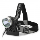 RUSTU D31 SSC Z7 530lm 3-Mode White Bicycle Headlamp - Grey + Silver (4 x 18650)