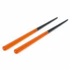 Dual Sections Detachable AS Resin Chopstick w/ Case - Translucent Orange (Pair)