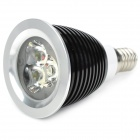 E14 3W 320lm White 3-LED Light Bulb - Black (220V)