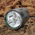 UltraFire 3 x Cree XP-G R5 880lm 3-Mode Memory White Bicycle Light - Dark Grey (4 x 18650)