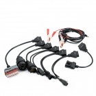 Autocom CDP Pro Diagnostic / Check Cables for Cars BMW / Benz / Audi + More - Black (8-Piece Pack)