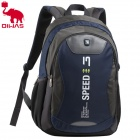 Oiwas 2861 Fashion Outdoor Travel Water Resistant Nylon + PVC Backpack Bag - Deep Blue + Grey (21L)