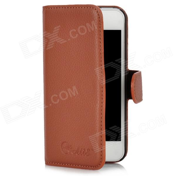 Alis Protective Flip-Open PU Leather for Iphone 5 - Brown alis машинка синие