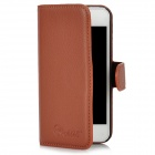 Alis Protective Flip-Open PU Leather for Iphone 5 - Brown