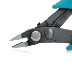 ProsKit 8PK-25PD-C Micro Diagonal Cutting Pliers w/ Safety Clip- Turquoise Blue + Black