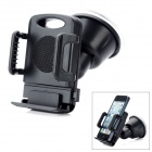 LSON 258 Car Swivel Windshield Mount Holder w/ Suction Cup for Cellphone - Black (4.5~11.5cm)