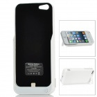 2-In-1 4200mAh Emergency External Battery Back Case for iPhone 5 - White