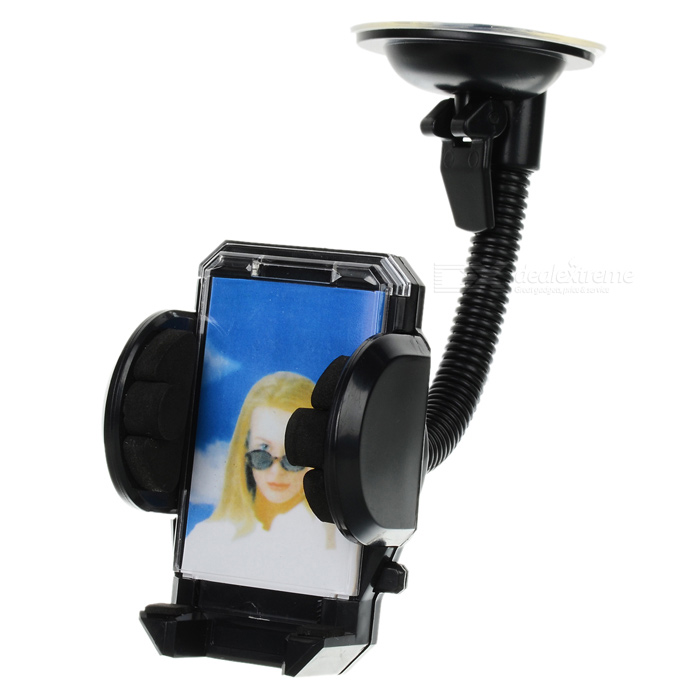 LSON 018 Universal Car Windshield Mount Holder for Mobile Phone - Black (4.5~11.5cm) concept car universal windshield mount holder for iphone samsung cellphone black