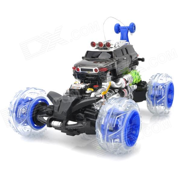 ZhengCheng 333-FD008 Rechargeable 4-CH Radio Control R/C Car w/ Music / Light - Blue + Silver