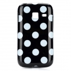 Polka Dot Style Protective TPU Back Case for Samsung Galaxy Y Duos S6102 - Black + White