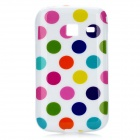 Polka Dots Pattern Protective Back Case for Samsung S6102 - Multicolored