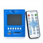 "2,4 ""TFT-Bildschirm HD MP5 Player Module w / Remote Controller - Blau + Weiß"