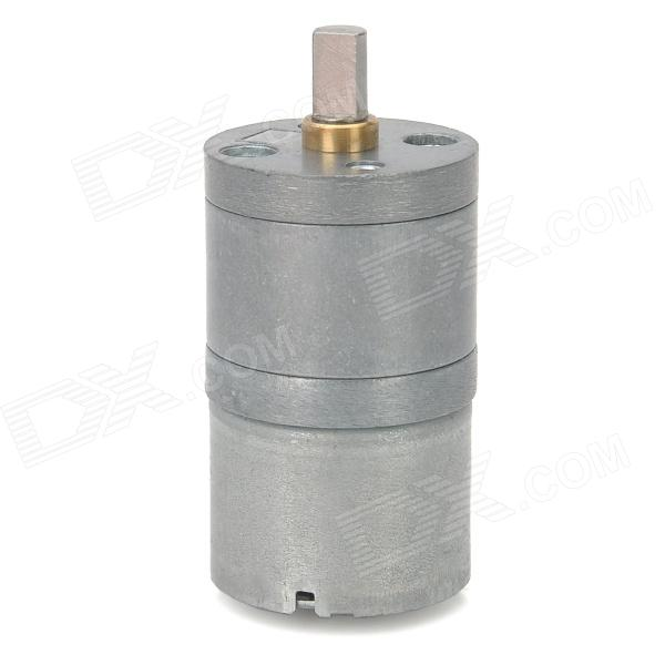 High Torque 120RPM DC Geared Motor - Silver (DC 6V)