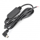 Buy Angle Mini 5 Pin USB Male 12V 5V Step-Down Power Converter Cable - Black (115cm)