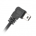 Angle Mini 5 Pin USB Male 12V to 5V Step-Down Power Converter Cable - Black (115cm)