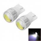 T10 1.5W 40lm SMD LED White Car Steering Light w/ Lens (12V / 2 PCS)
