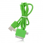 3-in-1 USB to Apple 30-Pin + Mini USB + Micro USB Data/Charging Cable for iPhone/Cell Phone - Green