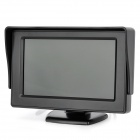 4.3&quot; TFT LCD Screen Car Monitor + Wireless Mini Rear View Camera - Black