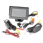 "4.3"" TFT LCD Car Monitor + Wireless Mini Rear View Camera - Black"