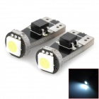 LY153 T10 0.5W 18lm 1-SMD 5050 LED White Decoded Car Width / License Plate Lamp (DC 12V / 2 PCS)
