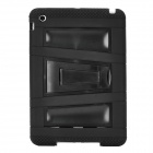 Stylish Anti-Shock Protective Dual-Color Case w/ Stand for Ipad MINI - Black