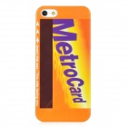 Metro Card Pattern Protective Plastic Case for Iphone 5 - Orange + Yellow