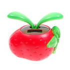Solar Powered Swinging Red Strawberry Desktop-Ornament