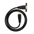 CY HD-0119-0.6M Male D Type Micro HDMI to Female Micro HDMI Cable for Motorola Cell Phones (60cm)