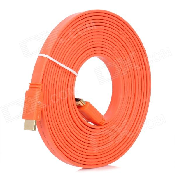 1080P HDMI 1.4 macho a macho Cable plano - Orange (5m)