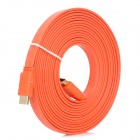 1080P HDMI 1.4 Male to Male Flat Cable - Orange (5m)