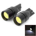 Ultra Bright T10 1.5W 40lm 6500K White Light 1-LED Car Turn Signal Lamp - Black (DC 12V / 2 PCS)