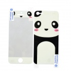 Cartoon Panda Pattern Protective Screen Guard + Back Decoration Sticker for Iphone 5 - Black + White