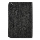 Bark Grain Style Protective PU Leather Case for iPad Mini - Black