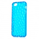 Water Cube Protective TPU Silicone Case for iPhone 5 - Blue