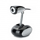 BLUE LOVER S11 Internet Video Camera w/ Microphone - Black + Silver