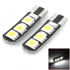 T10 1.2W 45lm 6-SMD 5050 LED White Light Decoding Car Brake Light (DC 12V / 2 PCS)